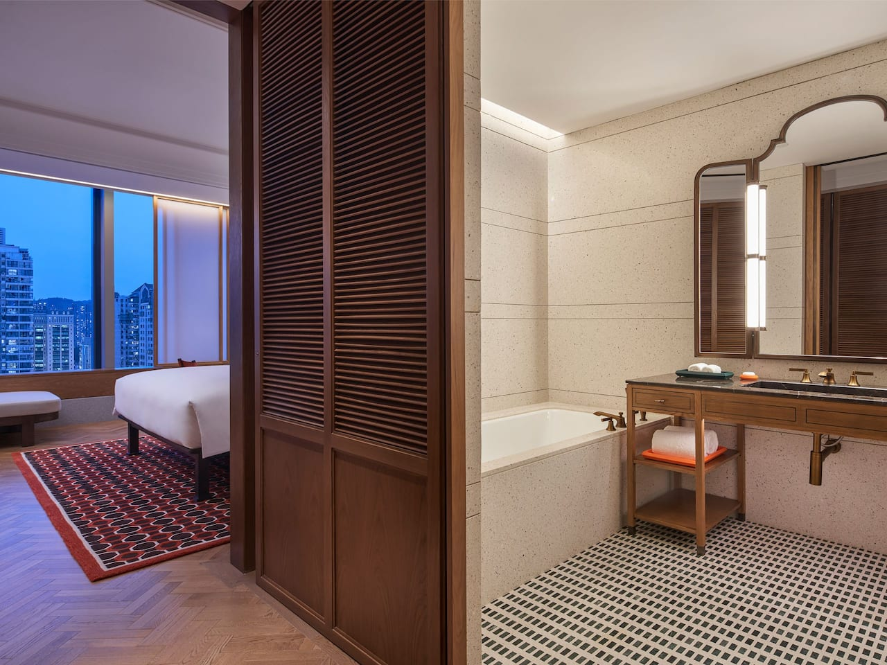 Guestroom Bathroom at Andaz Xiamen