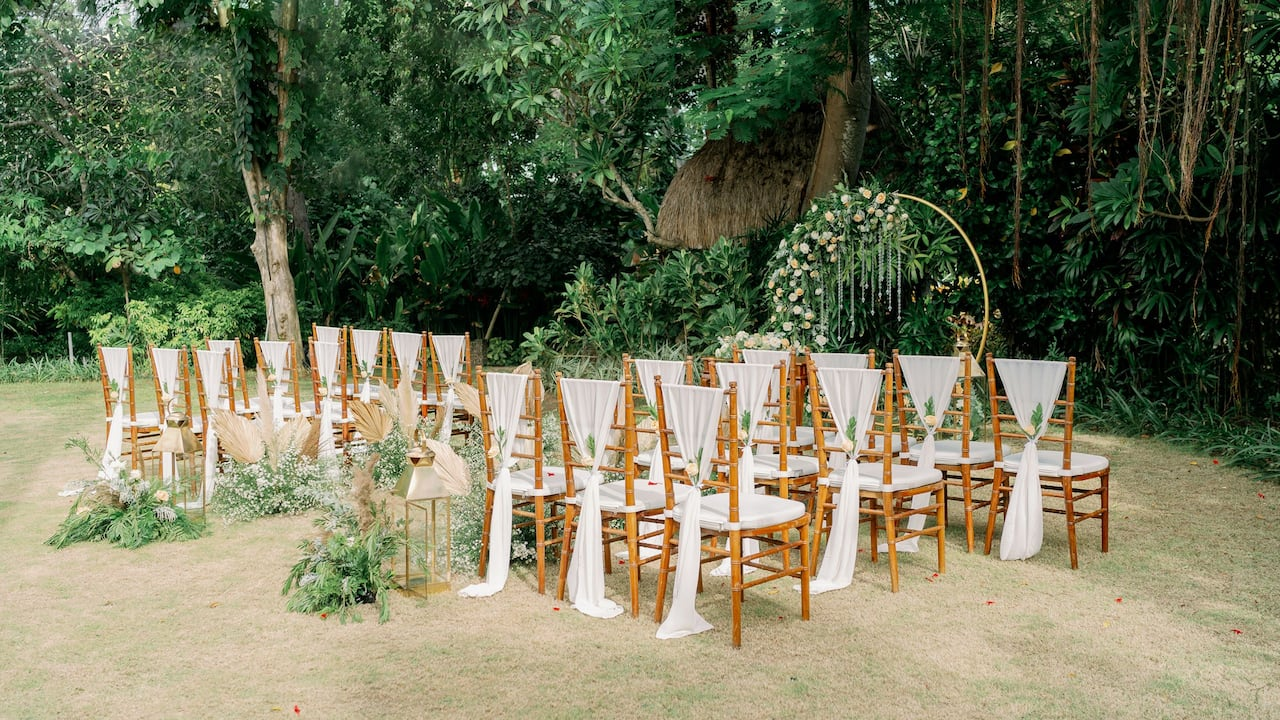 Garden Wedding Setup in Sanur, Hyatt Regency Bali