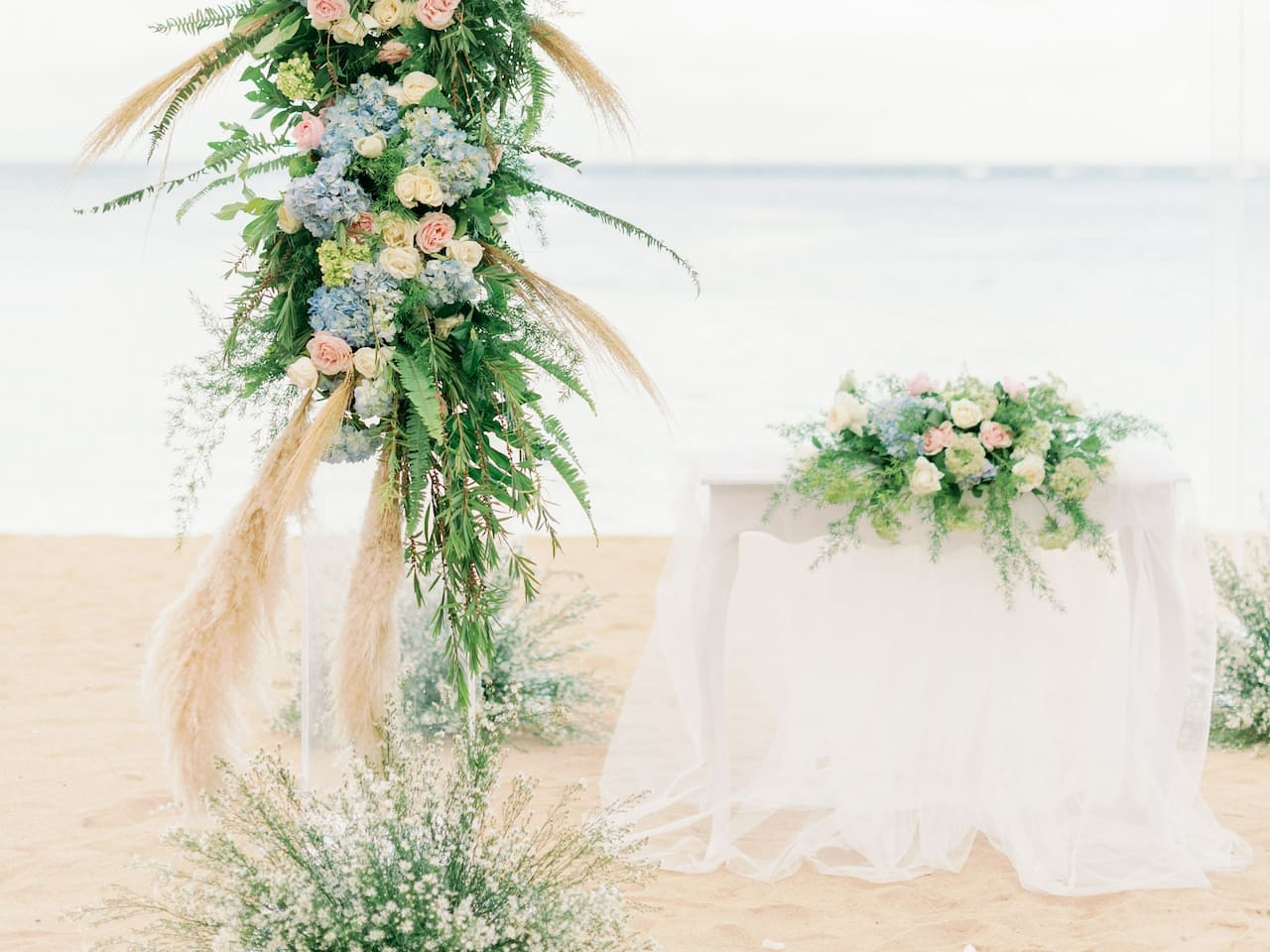 Beach Wedding Decoration in Sanur, Hyatt Regency Bali