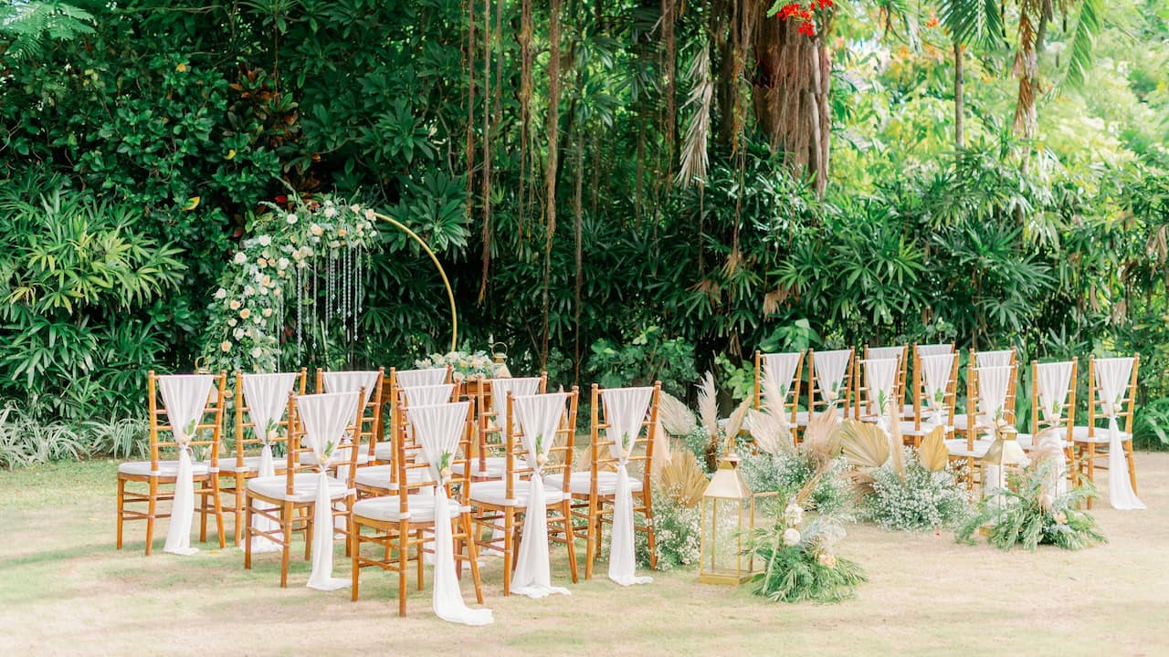 Garden Wedding Ceremony in Sanur, Hyatt Regency Bali