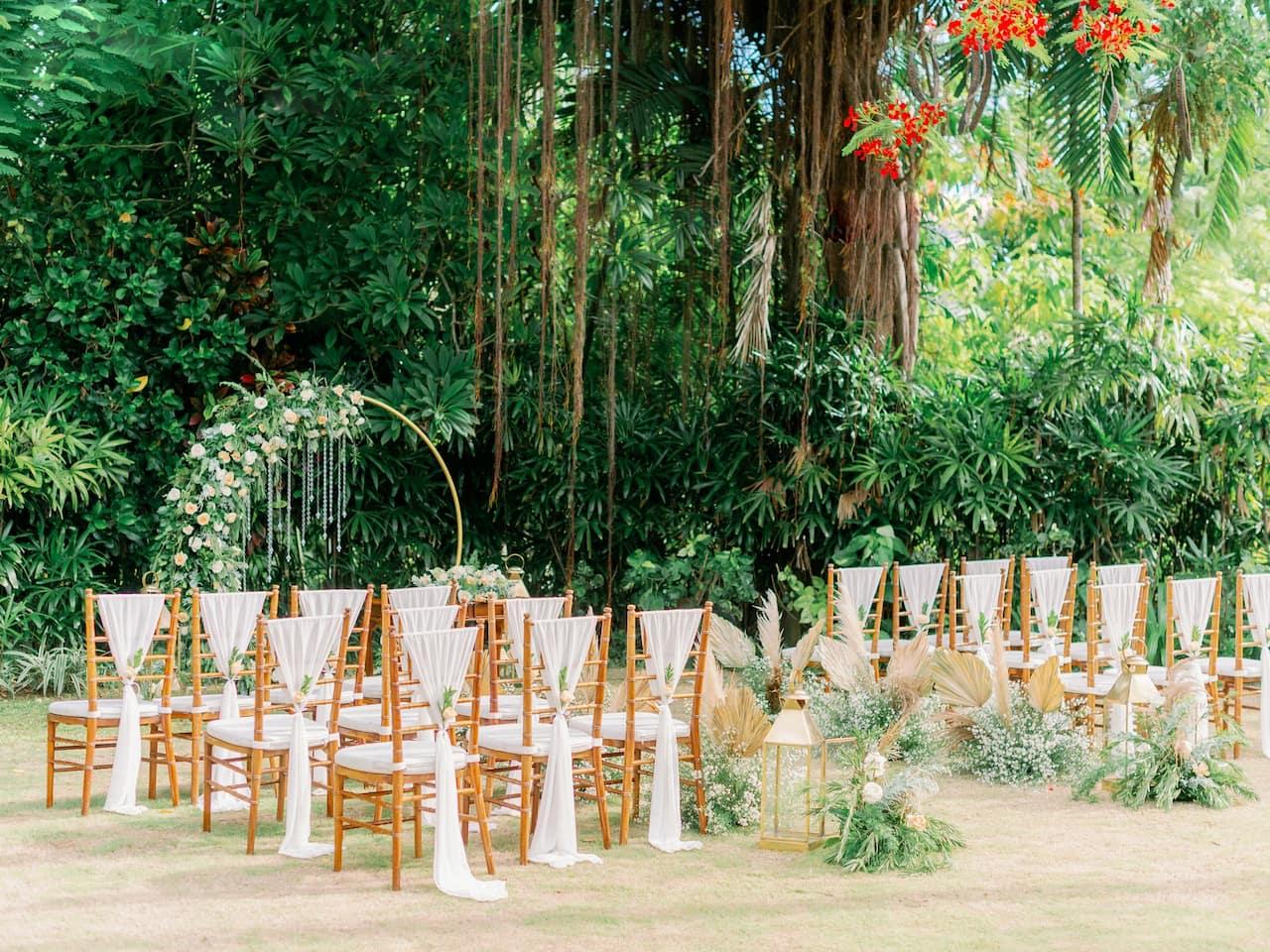 The Hyatt Regency, Wantilan Ballroom Banquet Setup for Weddings in Sanur Bali