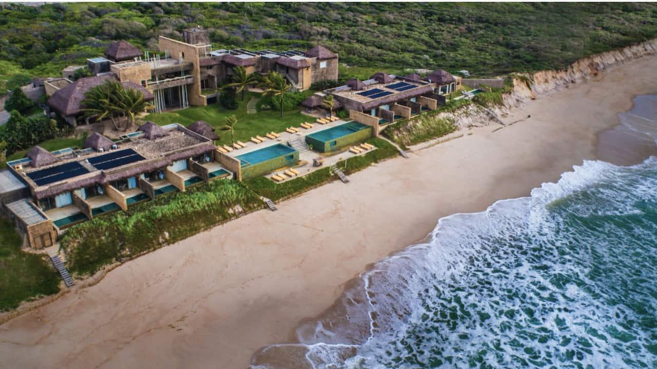 Ariel beach view