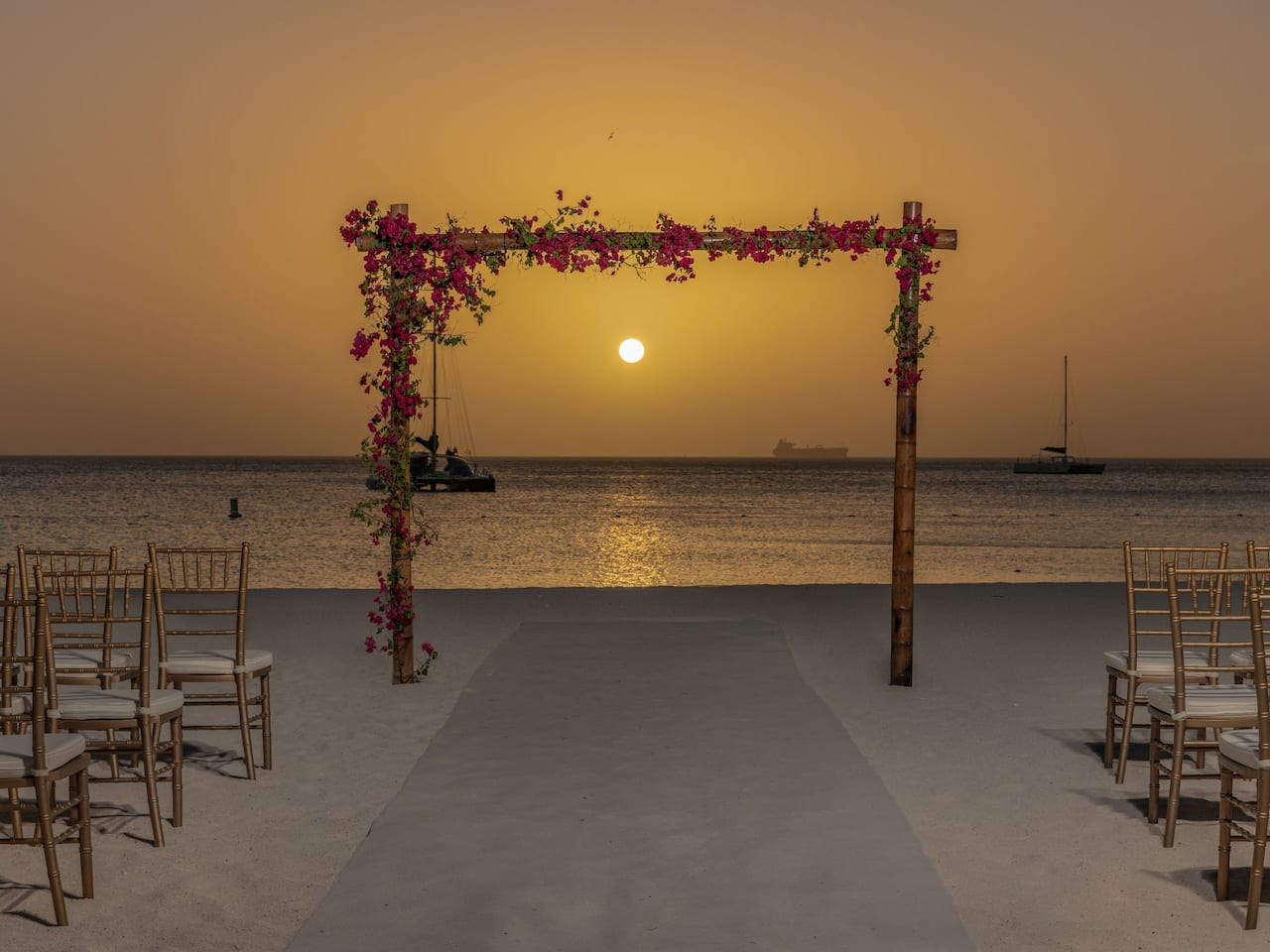 Beach Wedding Set Up