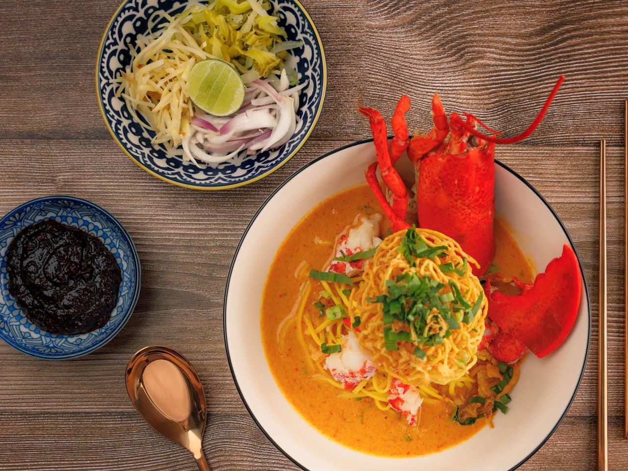 Lobster Khaosoi at You&Mee Grand Hyatt Erawan Bangkok
