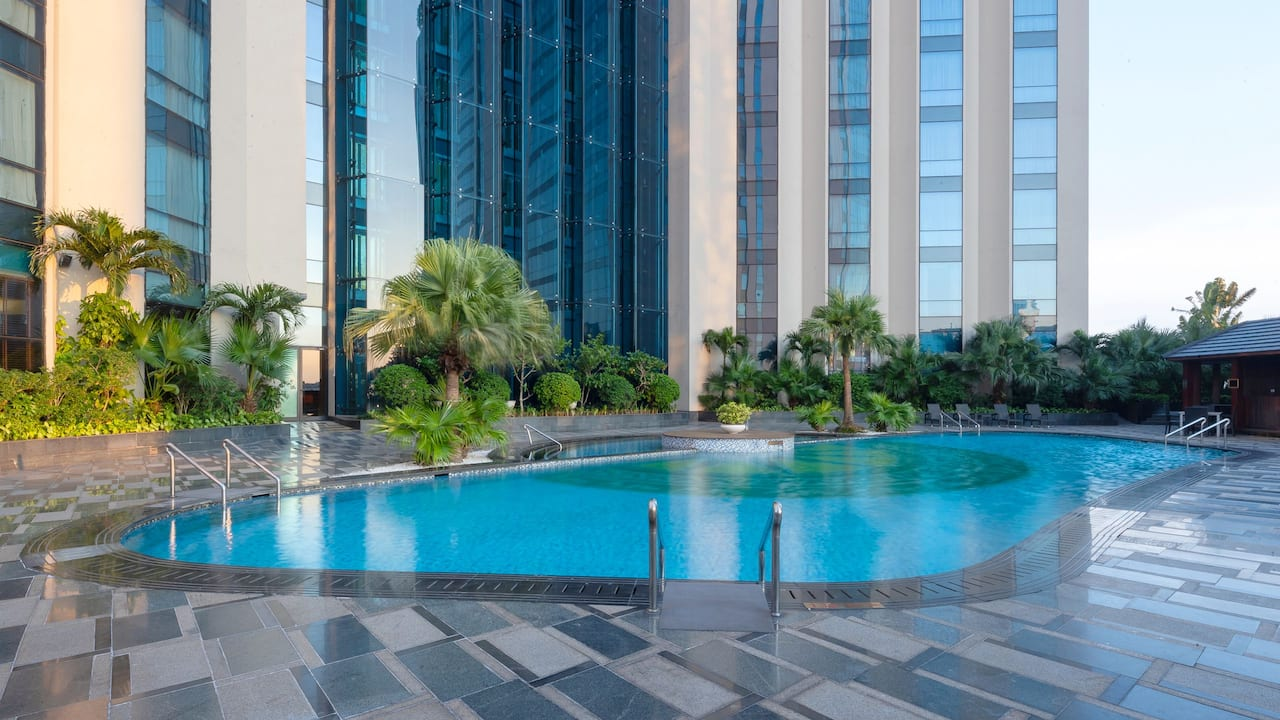 Outdoor swimming pool at Hyatt Regency West Hanoi