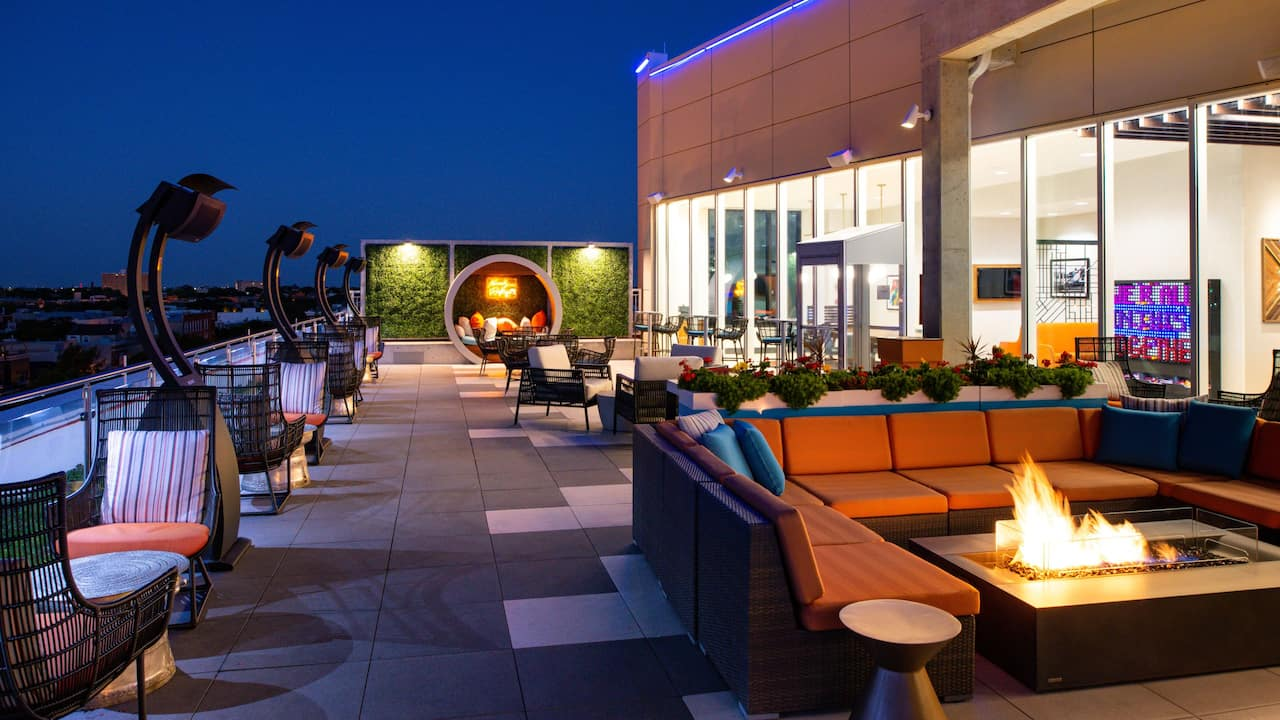 Kennedy Rooftop at night