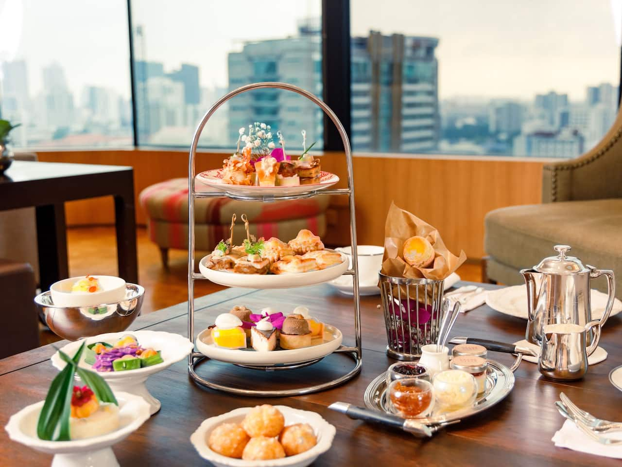 Afternoon Tea set at Grand Hyatt Erawan Bangkok