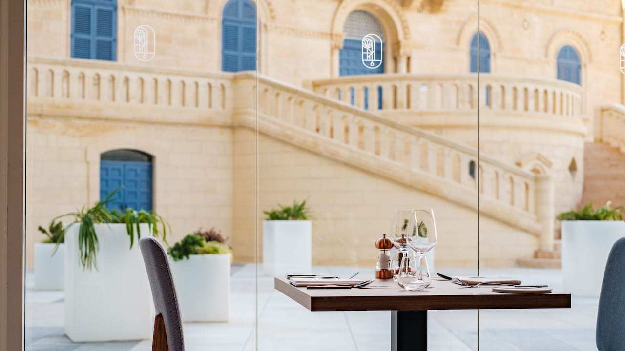 Hyatt Regency Malta Seed Restaurant Window View