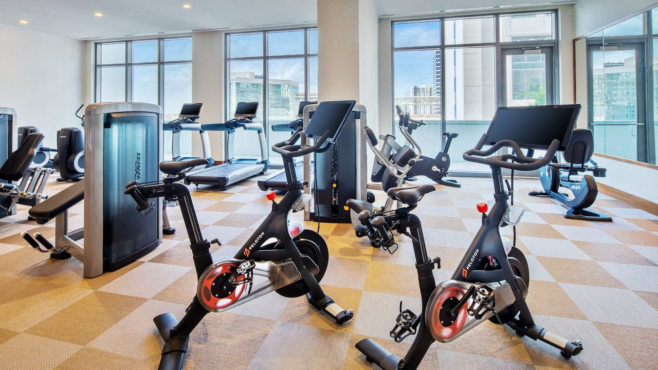Hotel Fitness Center Overlooking Downtown Fort Lauderdale