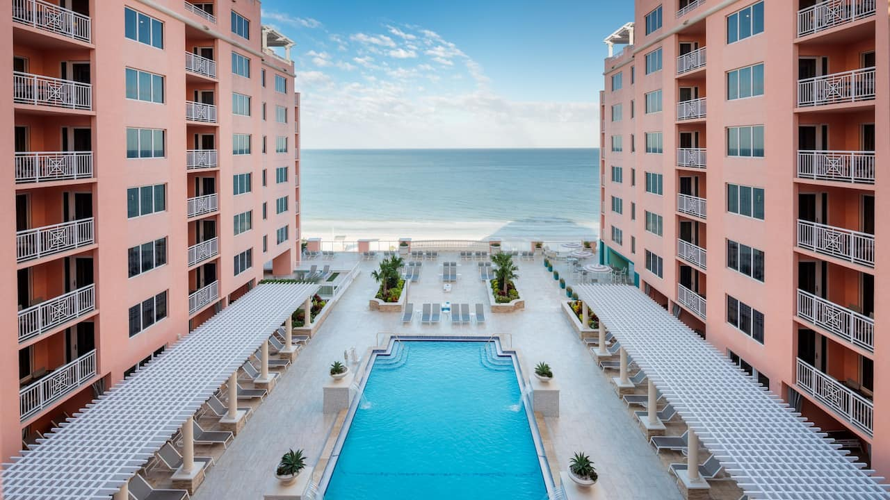 Large pool with ocean views at Hyatt Regency Clearwater Beach Resort and Spa