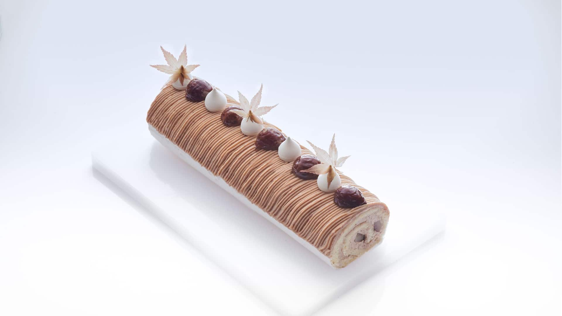 Chestnut and Pistachio Swiss Roll
