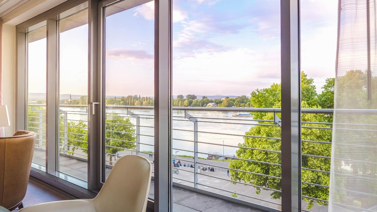 Rhine View Room Hyatt Regency Mainz