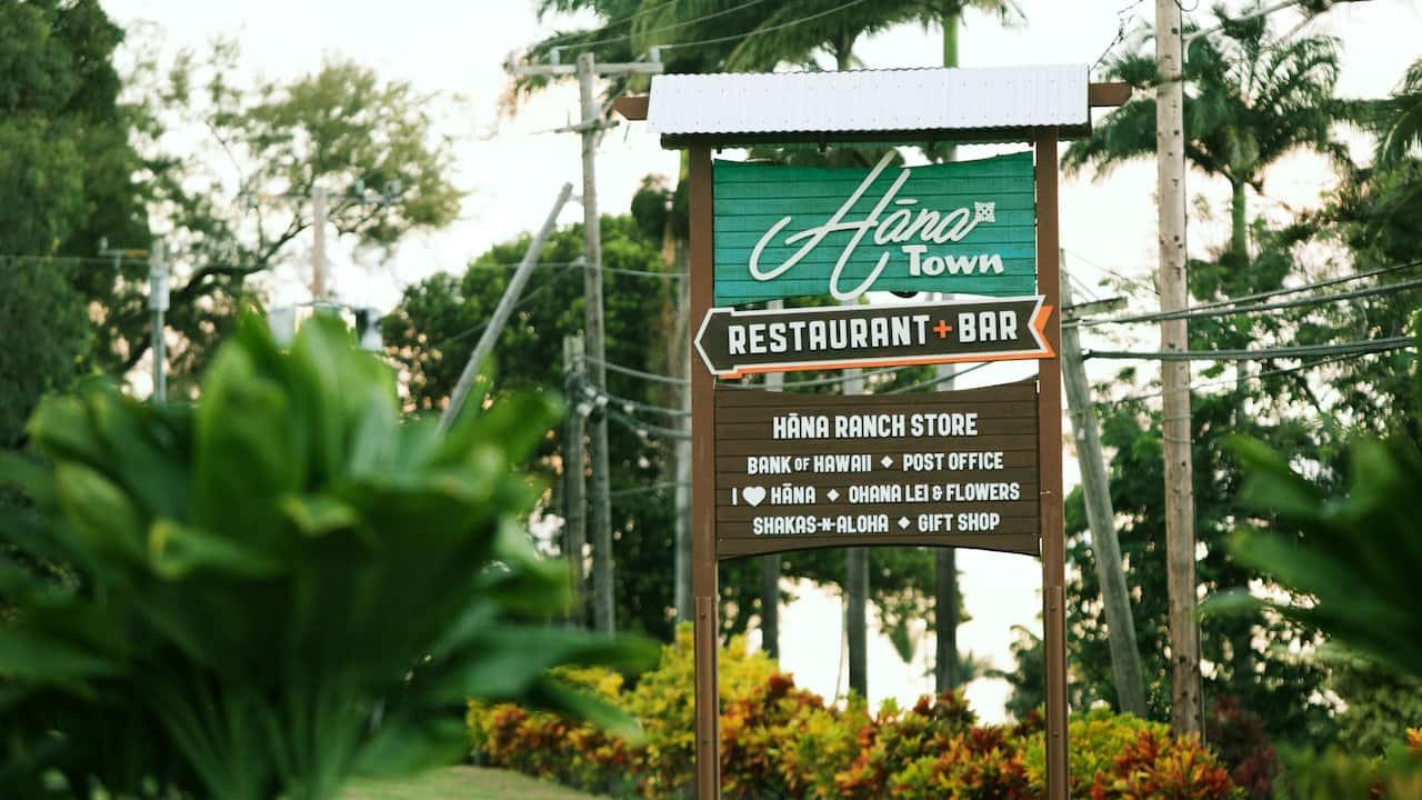 Town sign near Hana, Maui