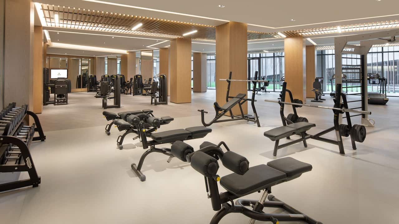Fitness Center at Grand Wuji Hotel
