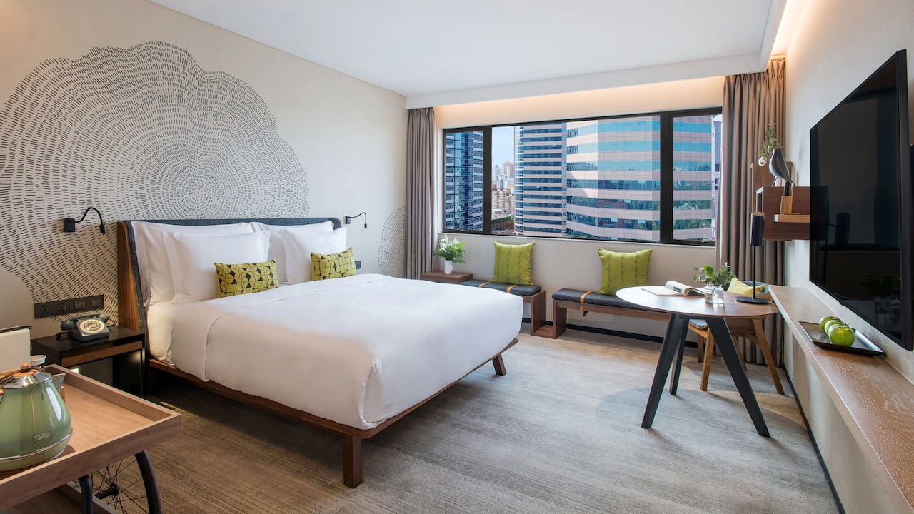 King room with Sanlitun city view