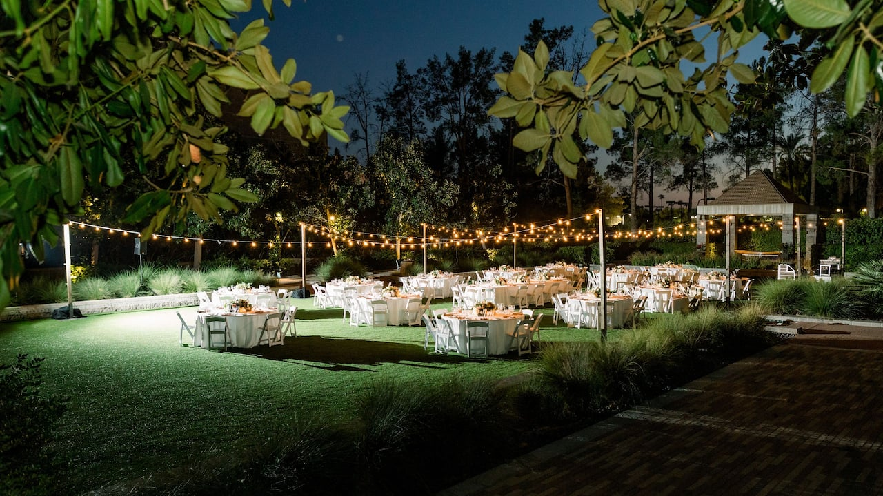 Outdoor Wedding Reception Night