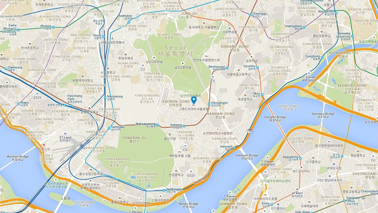 Grand Hyatt Seoul Hotel Location