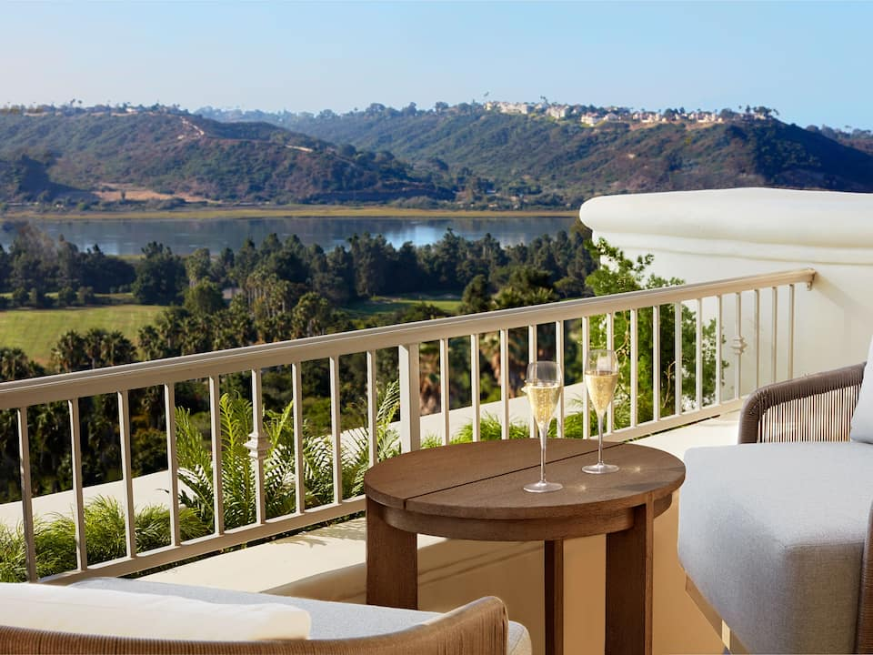 Carlsbad resort balcony with a view of the mountains