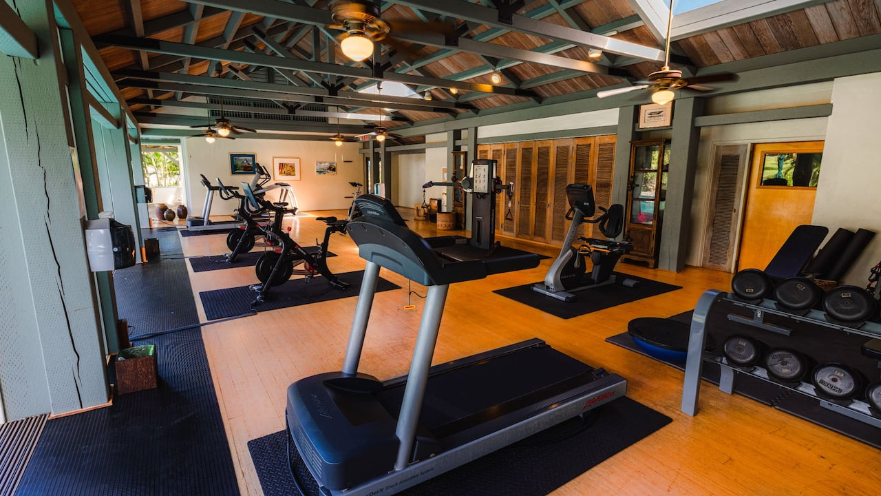 Fitness center in Hana, Maui hotel