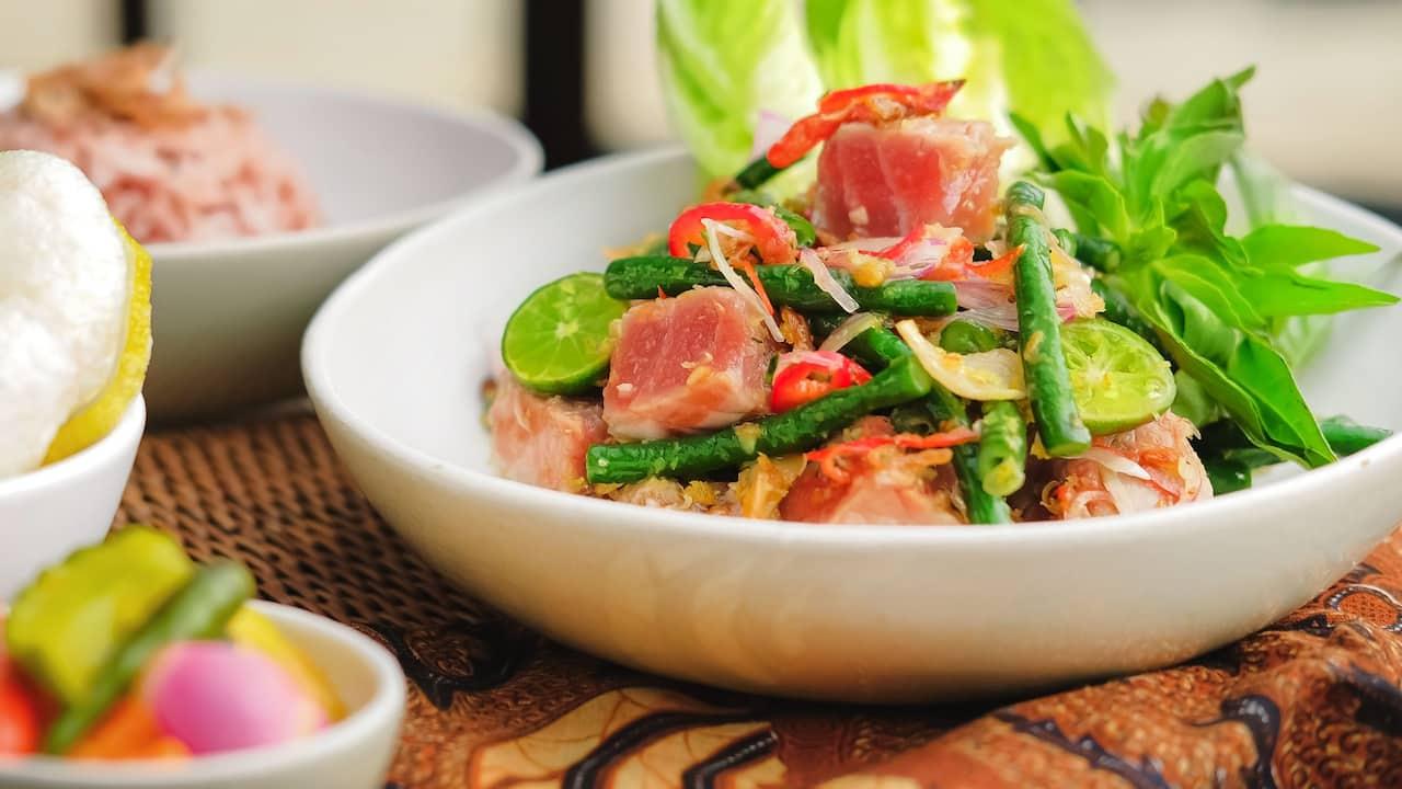Tuna sambal matah food menu Hyatt restaurants Bali
