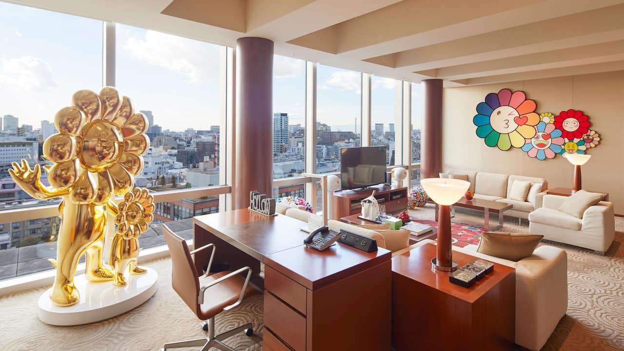 Stay in the World's First Takashi Murakami Flower Art Gallery Room