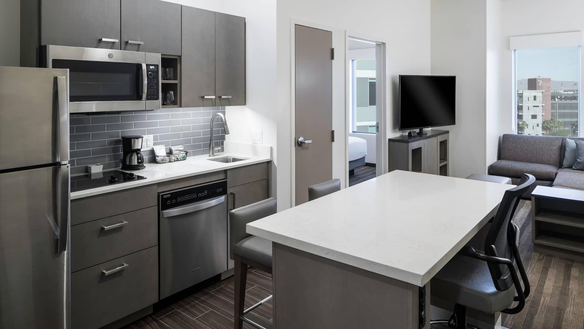 Hyatt House One Bedroom Kitchen