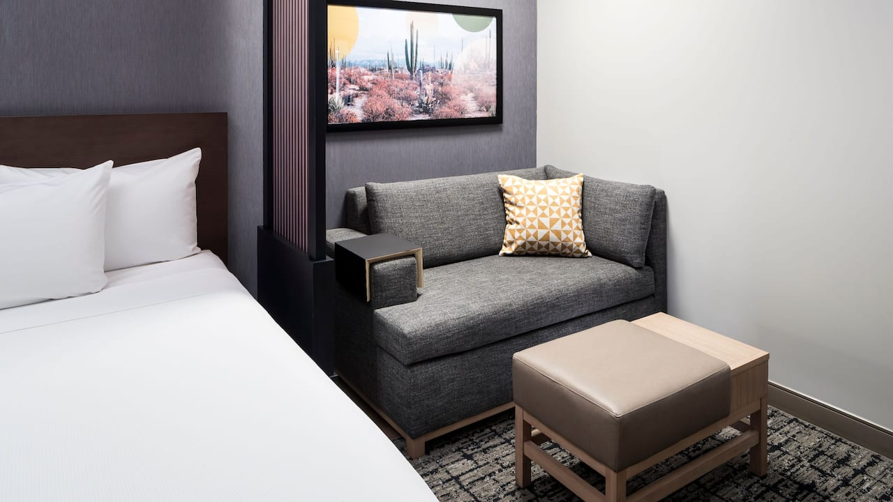 Two Queen Beds Plus Sofa Bed