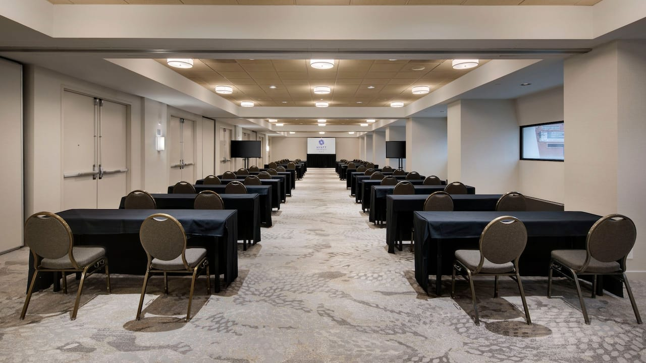 School room setup at Hyatt Regency Milwaukee