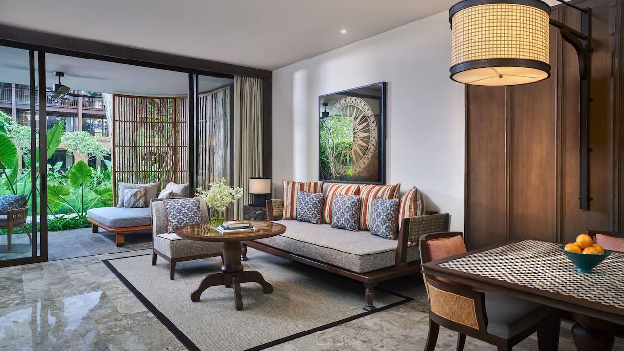 Living Room at Suite Room, Andaz Bali, Sanur