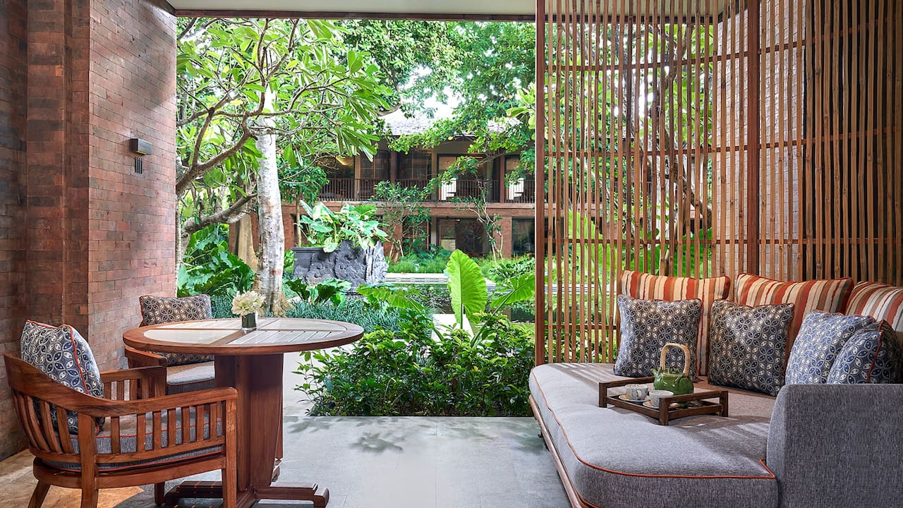 Balcony at Deluxe Room, Andaz Bali, Sanur