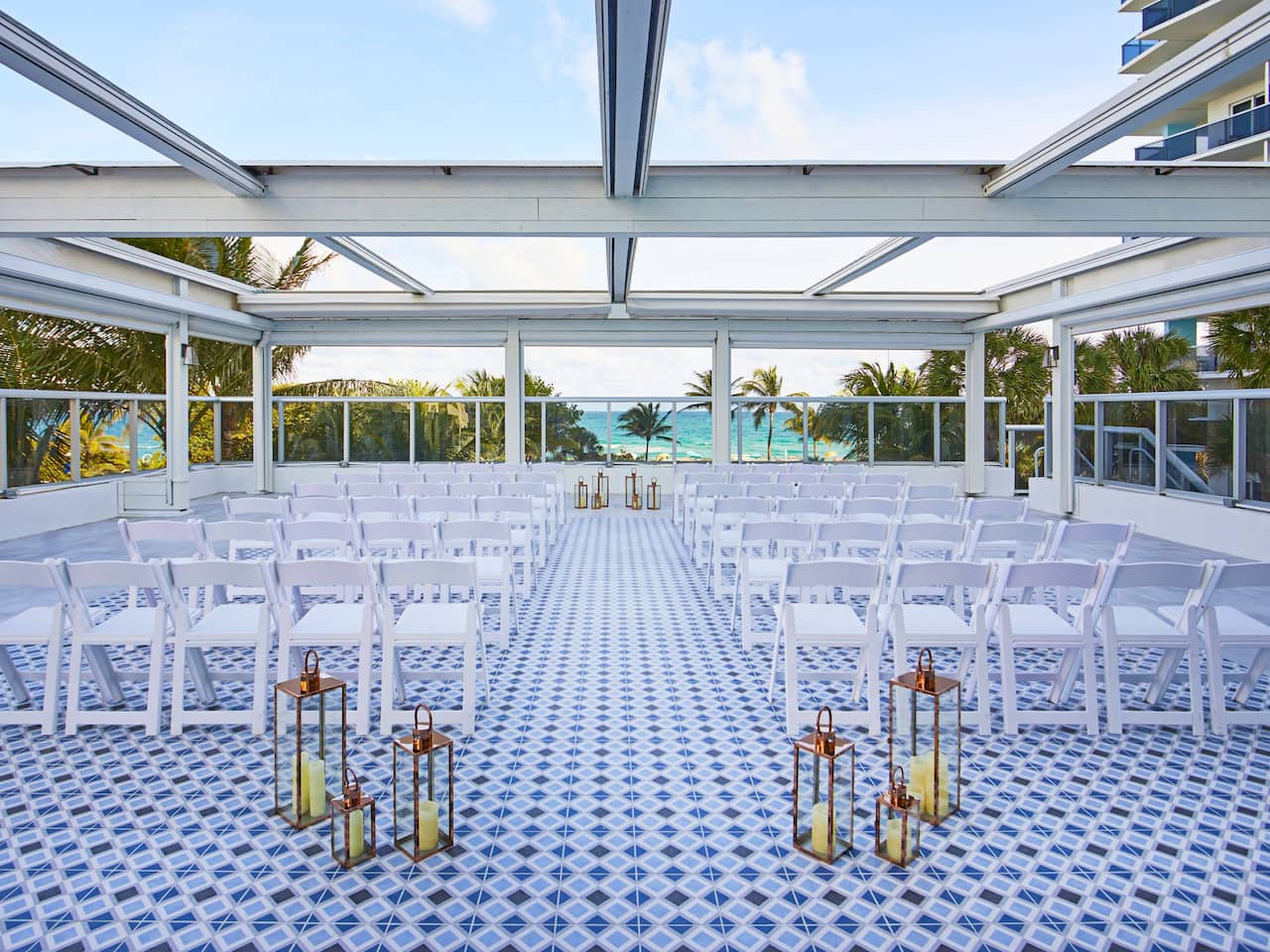 Outdoor Ceremony Space at The Confidante Miami Beach