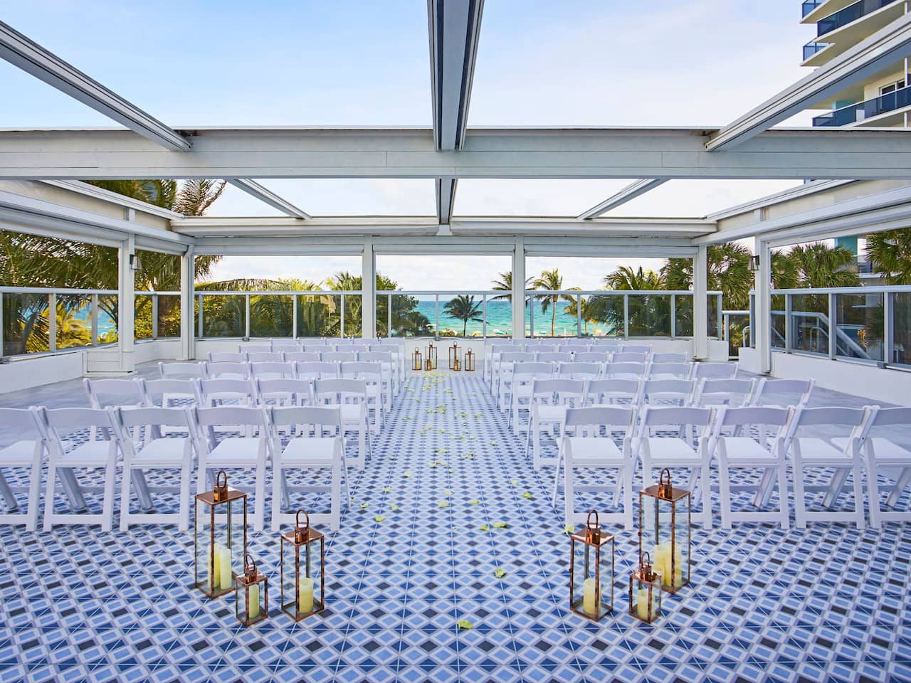 Outdoor Wedding Venue in Miami Beach at The Confidante Miami Beach