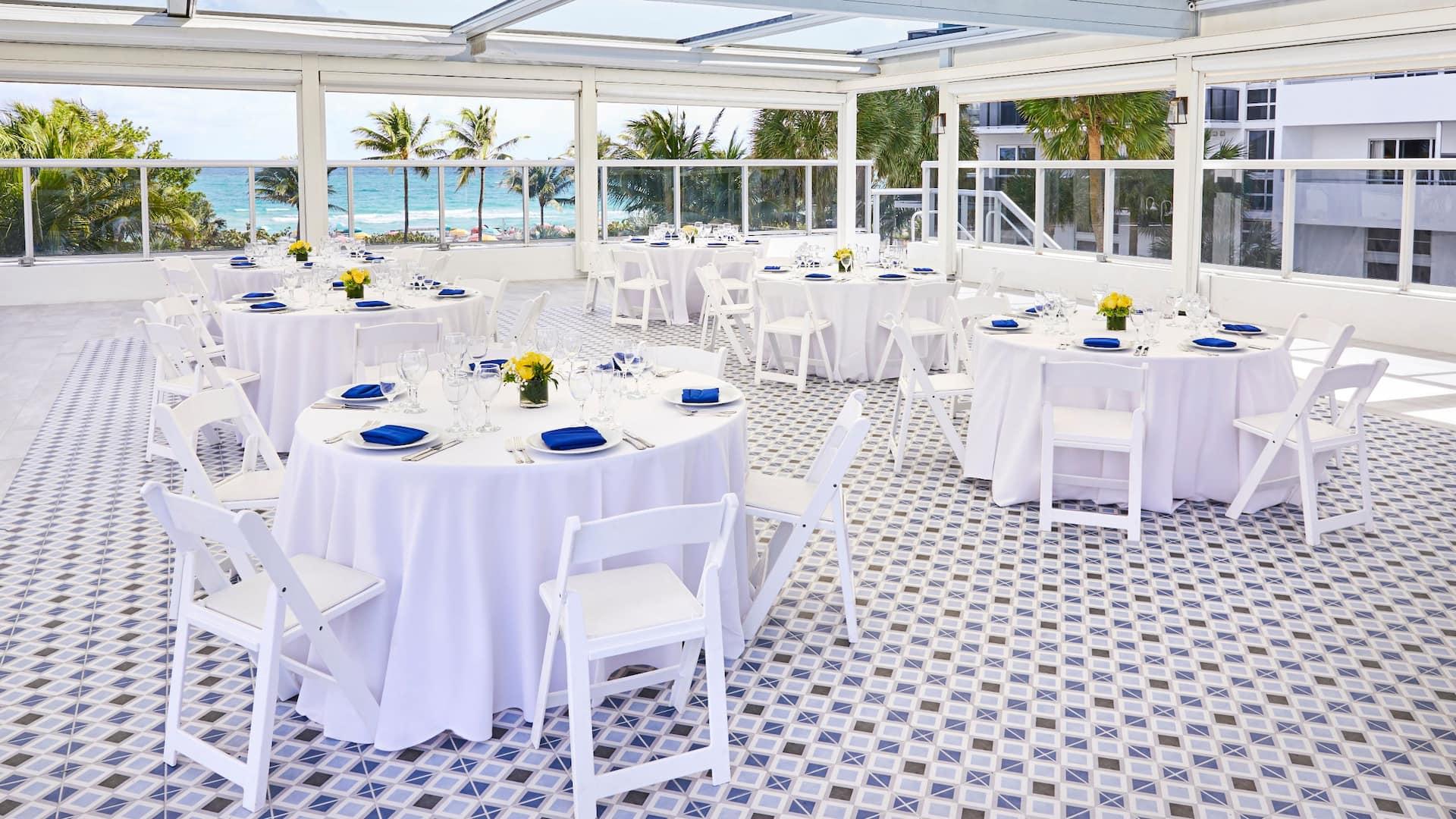 The Confidante Miami Beach Vista Terrace Banquet