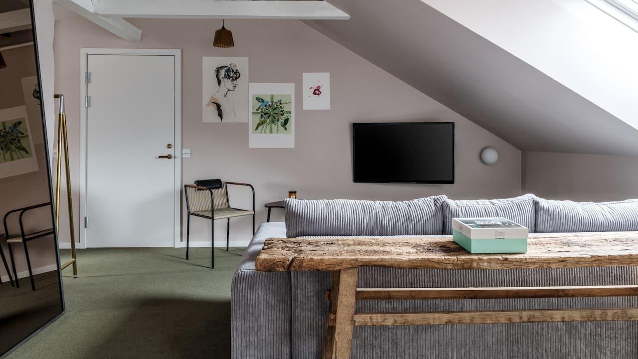 The Attic Living room