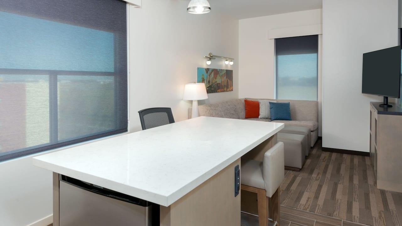 Corner One Bed Suite Kitchen
