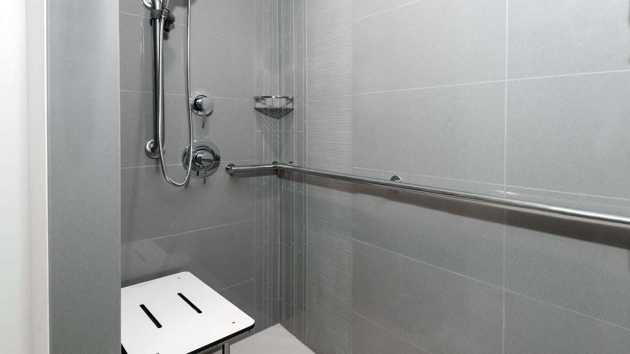 Guest Bathroom Roll In Shower