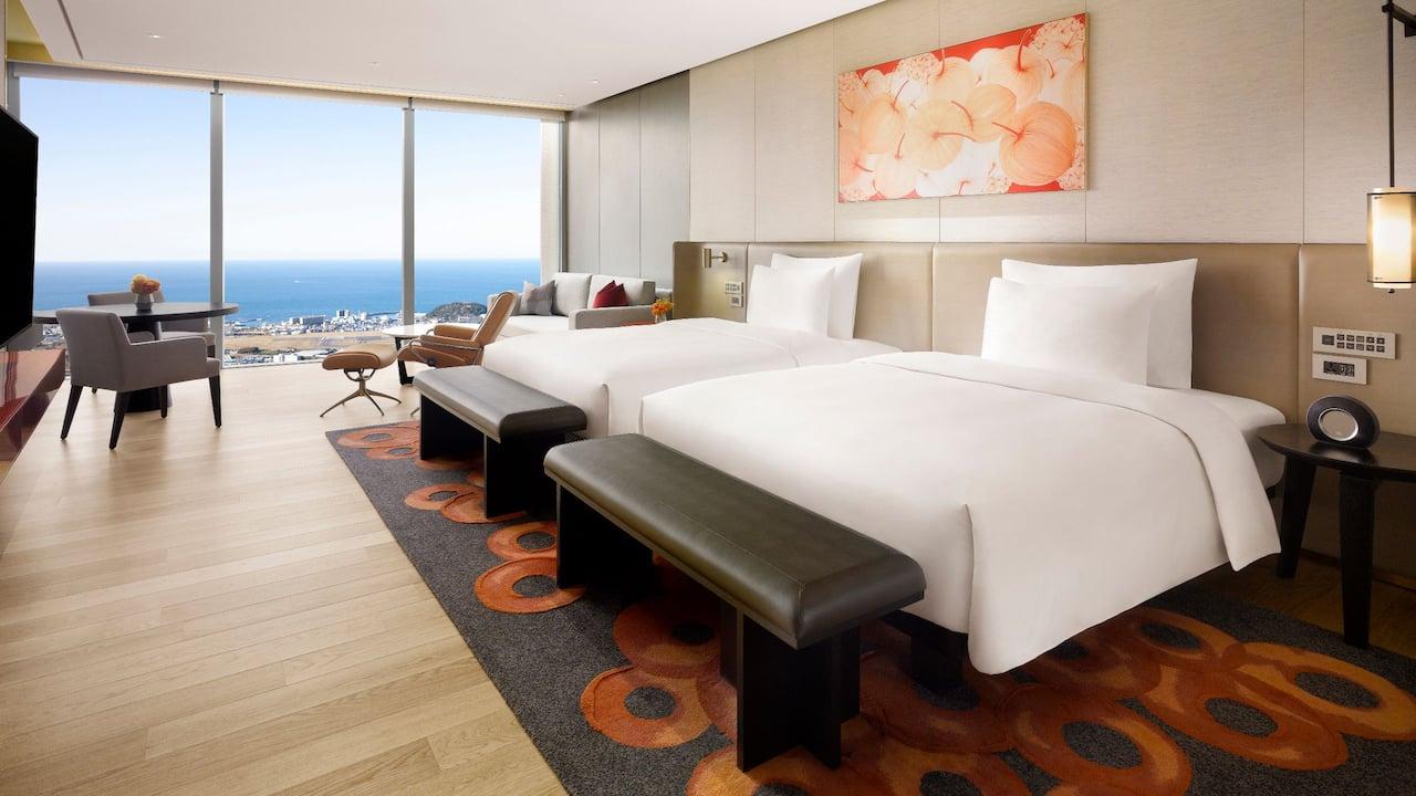 2 Twin Beds Sea View at Grand Hyatt Jeju