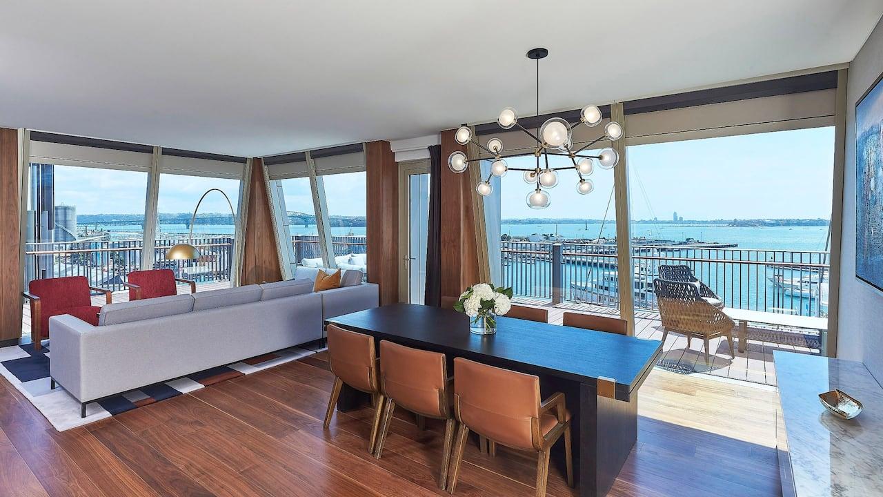 Park Hyatt Auckland Executive Rooftop Suite Living Area