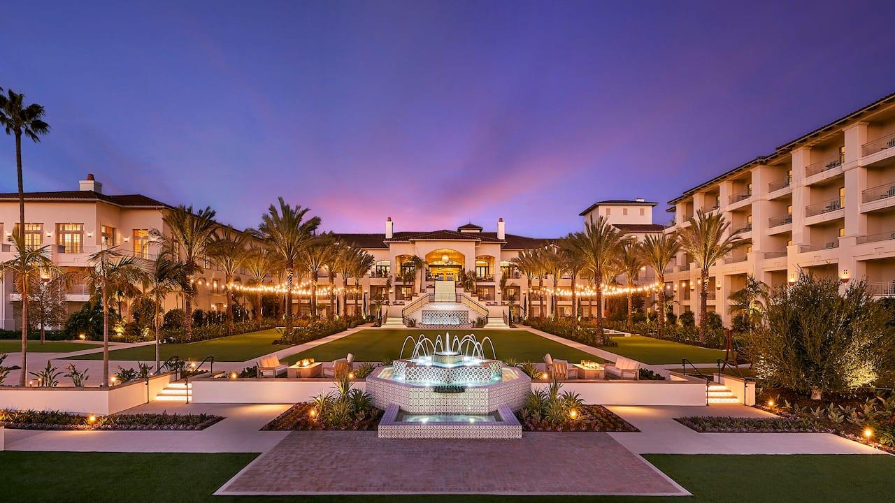 Courtyard Fountain Sunset