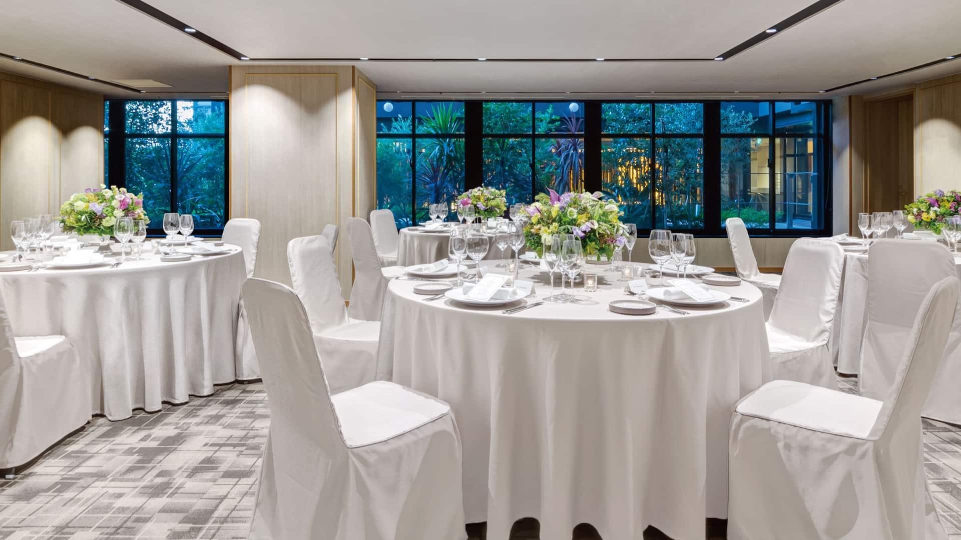 Banquet Room Party Setup
