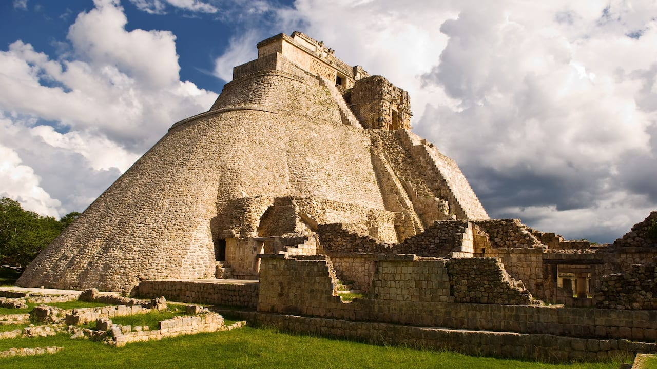 Uxmal Archaeological Site Daylight