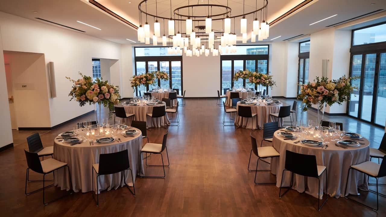 The Starlight Ballroom Wedding Setup
