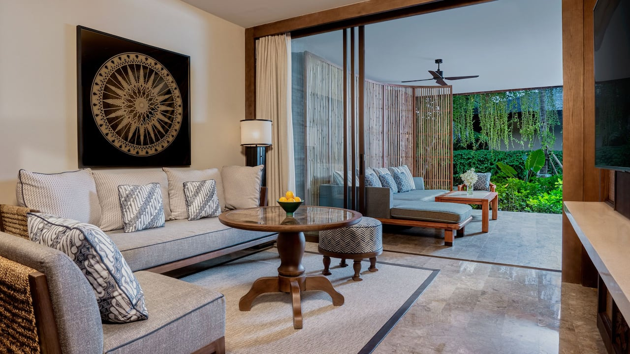 Living Room at Premium Room, Andaz Bali