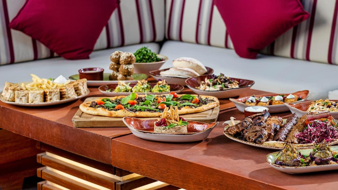 Al Nafourah Garden Hot Mezza Table