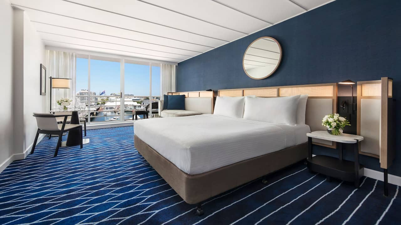 1 King Bed Harbour View with Balcony