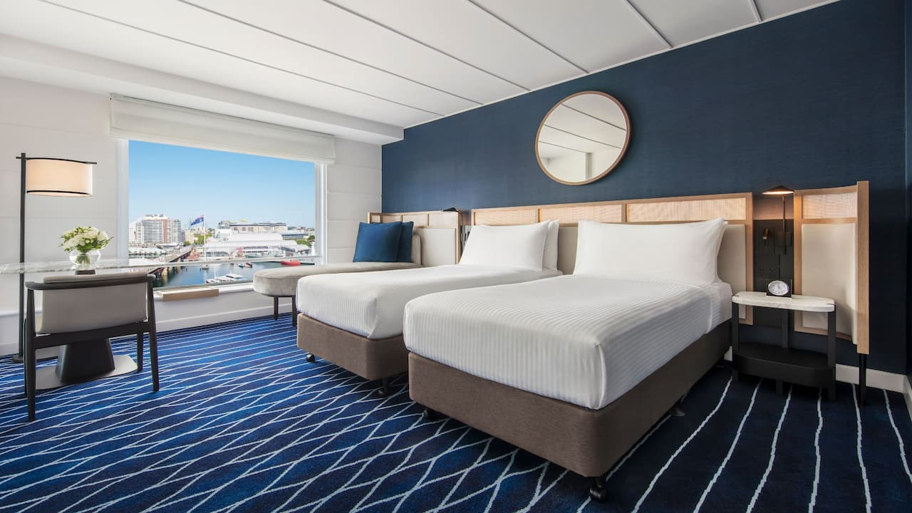 2 Twin Beds with Harbour View
