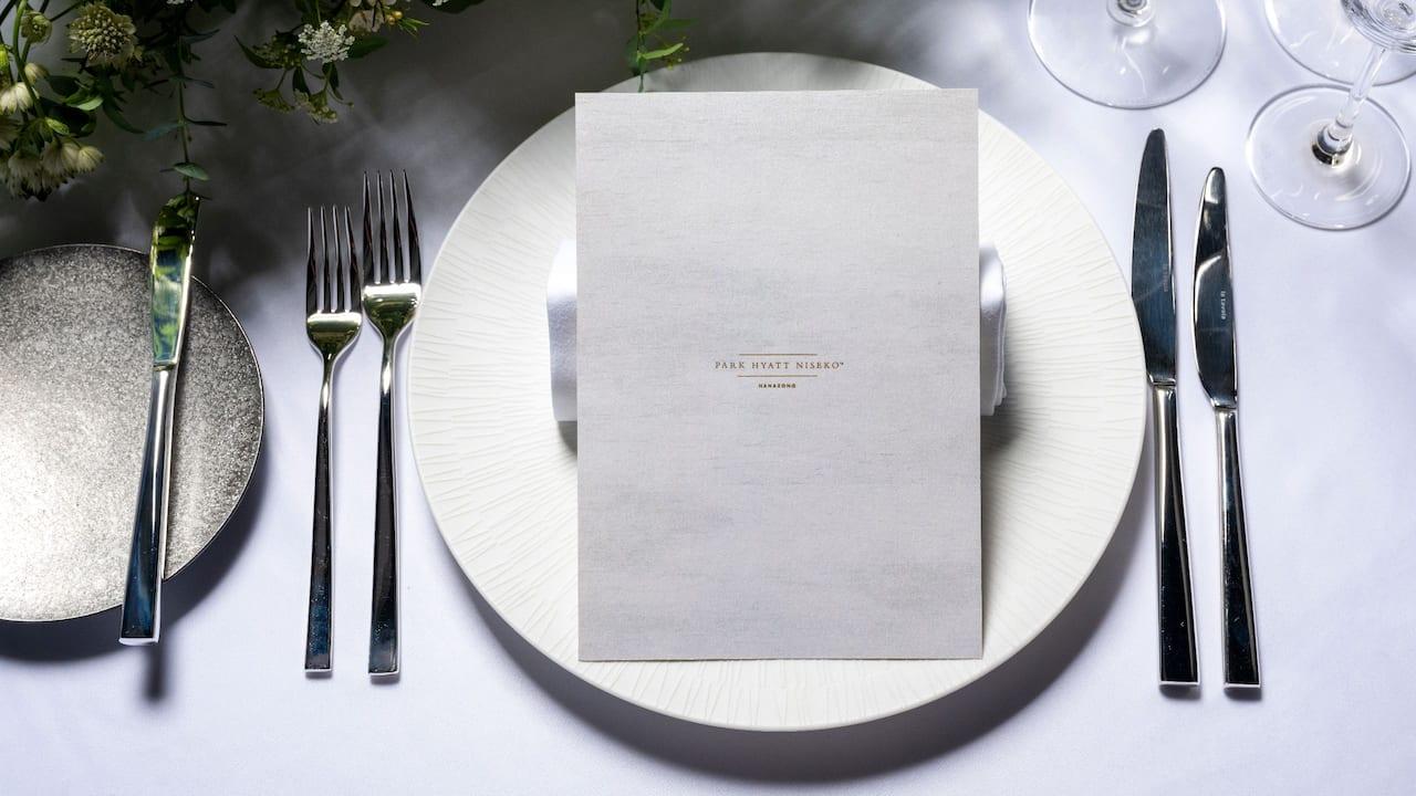 Park Hyatt Niseko Hanazono Wedding Table Plate Setting