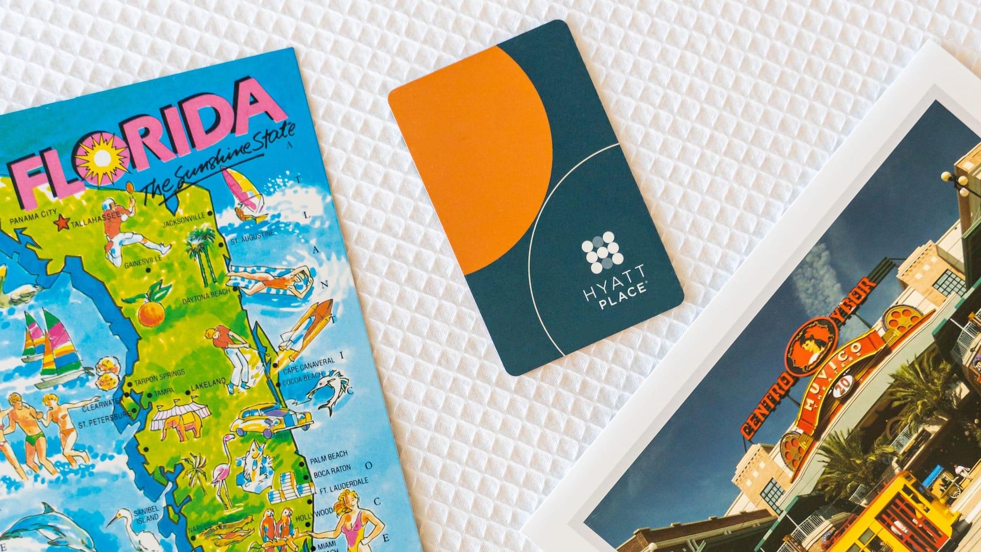 Hyatt Place Guestroom Key and Postcards