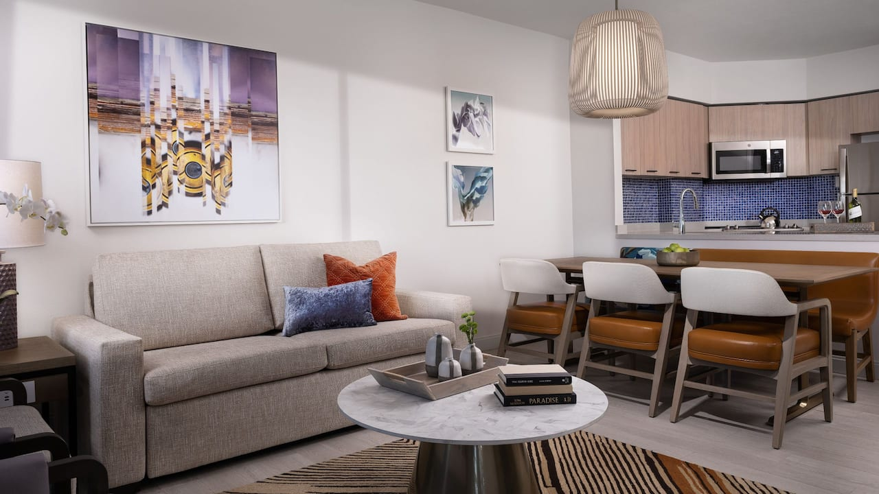 Two Bedroom Living and Dining Area