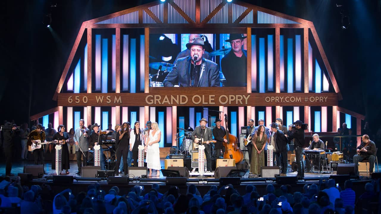 Musicians performing at The Grand Ole Opry